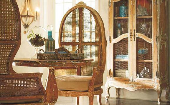 原装进口美式做旧皇后椅