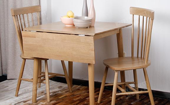 原装进口可折叠原木餐桌椅