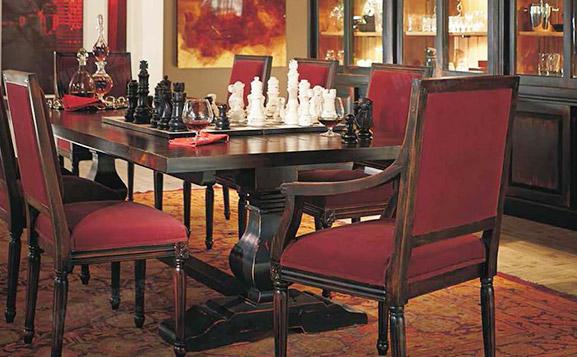 原装进口美式做旧长餐桌