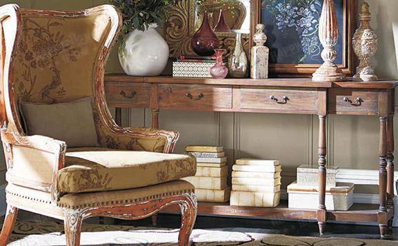 原装进口美式做旧布列塔尼扶手椅