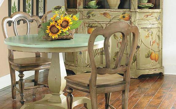 原装进口美式做旧切尔西圆桌