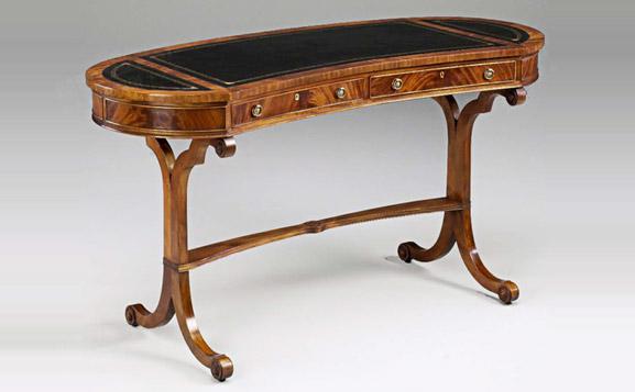 原装进口法式实木贴皮写字桌
