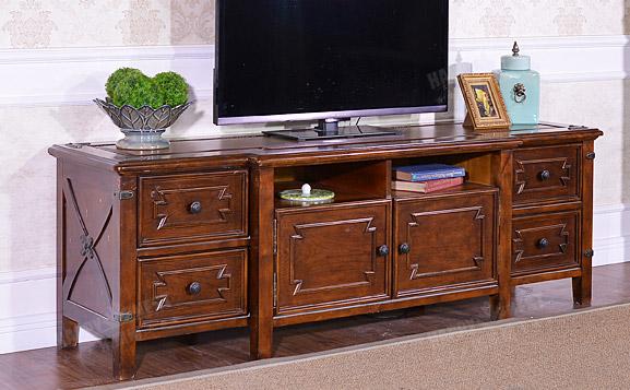 美式简约实木电视柜