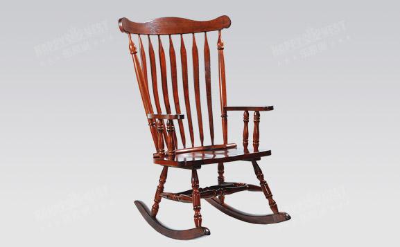 原装进口美式休闲实木摇椅