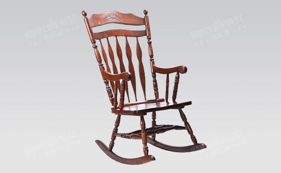 原装进口美式实木摇椅