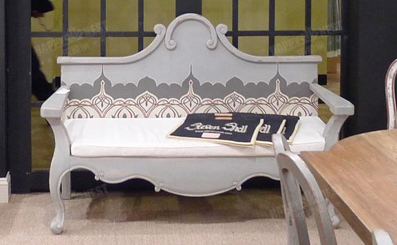 原装进口英式做旧哈兰长椅