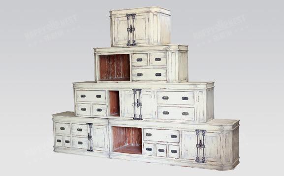原装进口英式做旧泰晤士堆叠柜