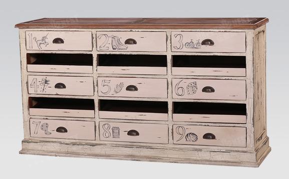 原装进口英式做旧收藏柜