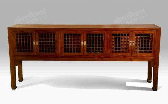 原装进口中式清代风多门玄关柜