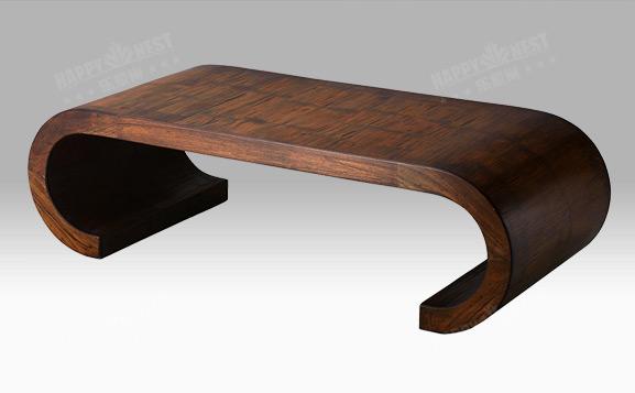 原装进口中式清代风卷腿咖啡桌