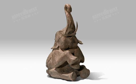 原装进口铜饰-坐姿大象