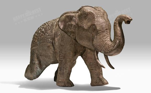 原装进口铜饰-走姿大象