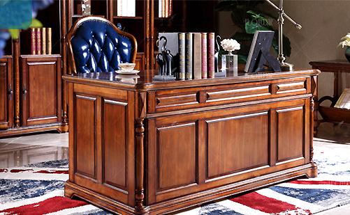 美式实木书桌书台