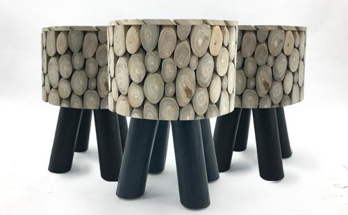 原装进口创意东南亚风格矮凳