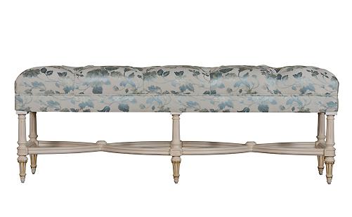 进口法式布艺床尾凳
