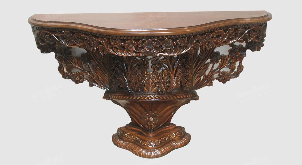 原装进口欧式古典花雕玄关桌品牌:简称(rh)